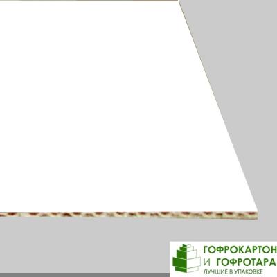 Микрогофрокартон Т-23 бел/бел. Размер: 1000х700 мм.