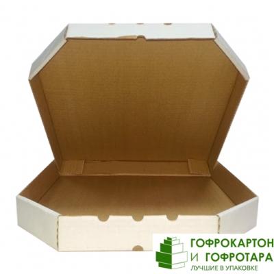 Упаковка под пиццу белая Т-24. Размер: 330х330х40 мм.