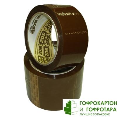 Клейкая лента (скотч) упаковочная коричневая NOVA ROLL. Размер: 48мм х 66м. Плотность 47 г/м2.