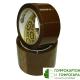 Клейкая лента (скотч) упаковочная коричневая NOVA ROLL. Размер: 50 мм х 66 м. Плотность 50 г/м2.