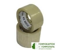 Клейкая лента (скотч) упаковочная прозрачная. Размер: 48 мм х 50 м. Плотность 45 г/м2.