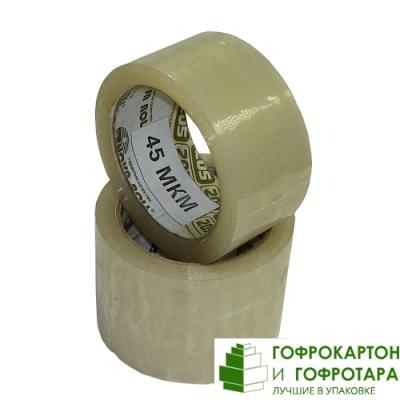 Клейкая лента (скотч) упаковочная прозрачная NOVA ROLL. Размер: 48мм х 66м. Плотность 45 г/м2.