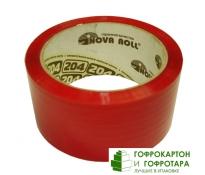 Клейкая лента (скотч) упаковочная красная. Размер: 48мм х 50м. Плотность 45 г/м2.