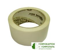 Клейкая лента (скотч) упаковочная белая. Размер: 48 мм х 50 м. Плотность 45 г/м2.