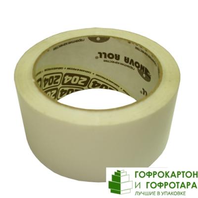 Клейкая лента (скотч) упаковочная белая. Размер: 48мм х 66м. Плотность 47 г/м2.