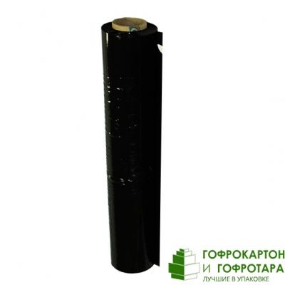 Черная стрейч-пленка. Ширина 500 мм. Длина 200 п/м. Плотность 20 Мкм.
