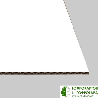 Микрогофрокартон Т-24 бел. Размер: 1030х1030 мм.