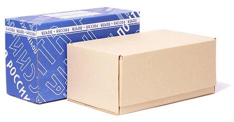 Почтовые коробки с нанесением логотипа Почта России и без
