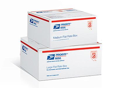 Почтовые коробки с логотипами методом флексопечати