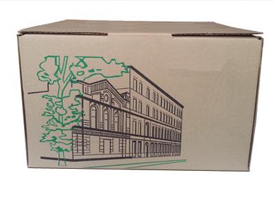 Коробки для почтовых отправлений с нанесением флексопечати