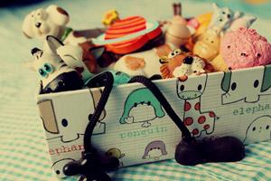 Картонная коробка для детских игрушек
